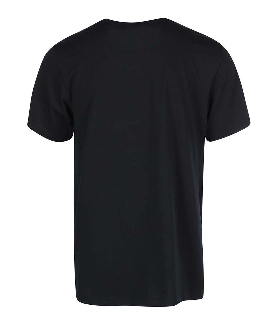 Černé pánské triko s krátkými rukávy adidas Originals Vibrant City T