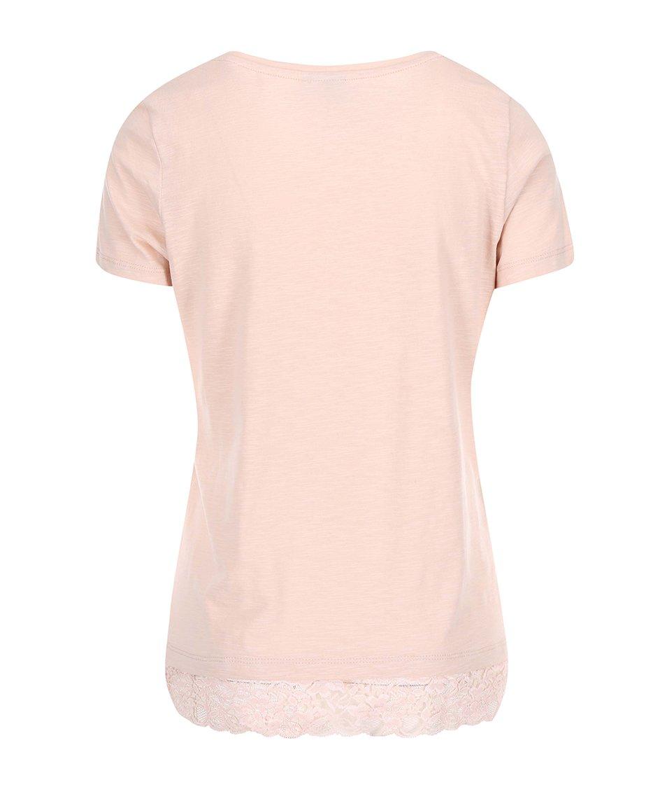 Světle růžové tričko s krátkým rukávem Vero Moda Hope