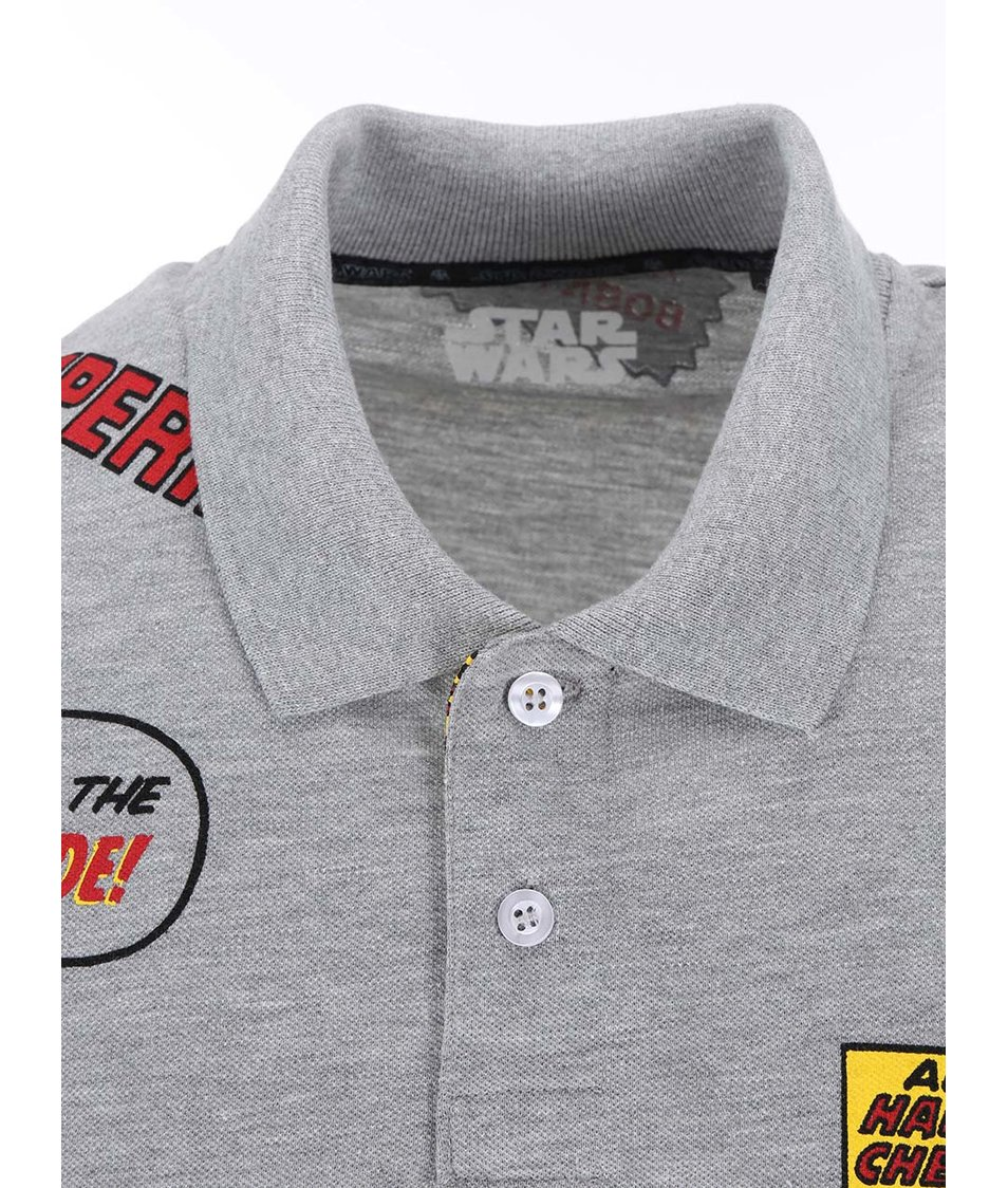 Šedé polo triko s potiskem Jack & Jones Trooper