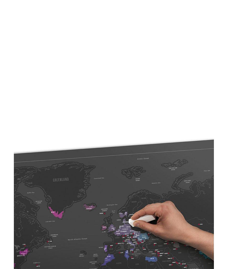 Nástěnná stírací mapa Luckies Capitals