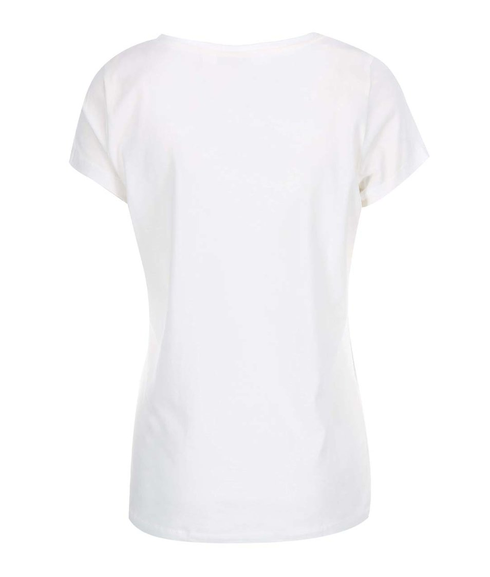 Bílé tričko s potiskem Vero Moda Julie