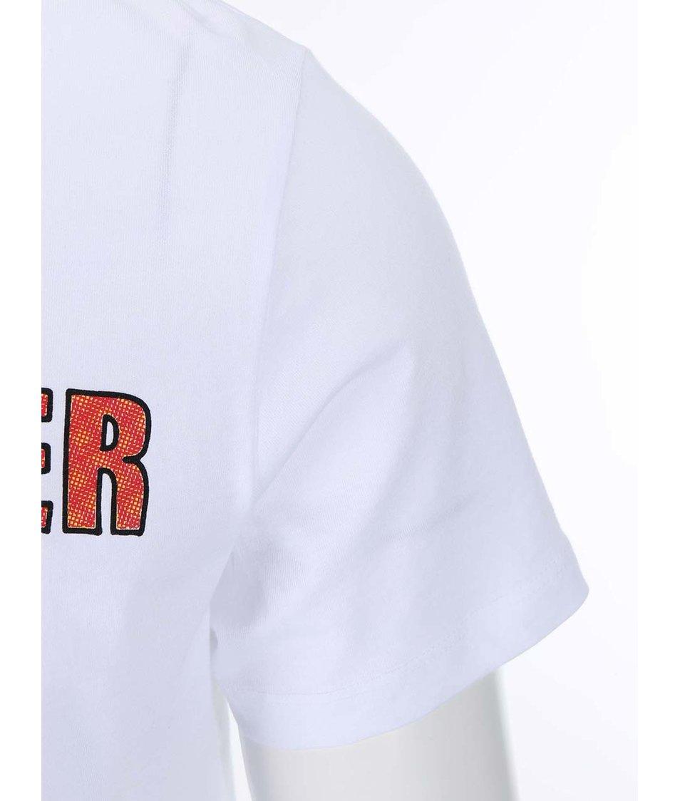 Bílé triko s potiskem Jack & Jones Trooper