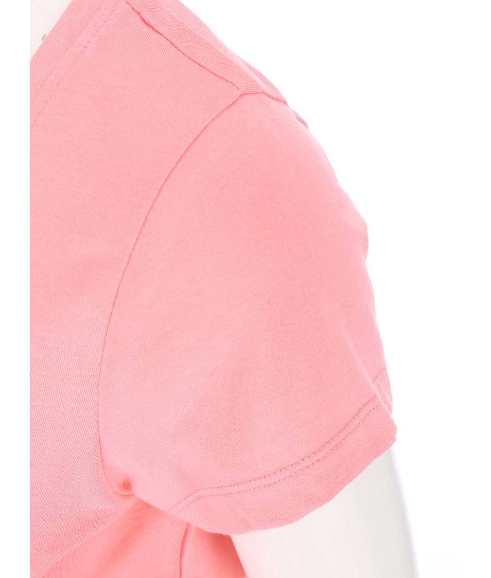 Růžové tričko s potiskem Vero Moda Julie