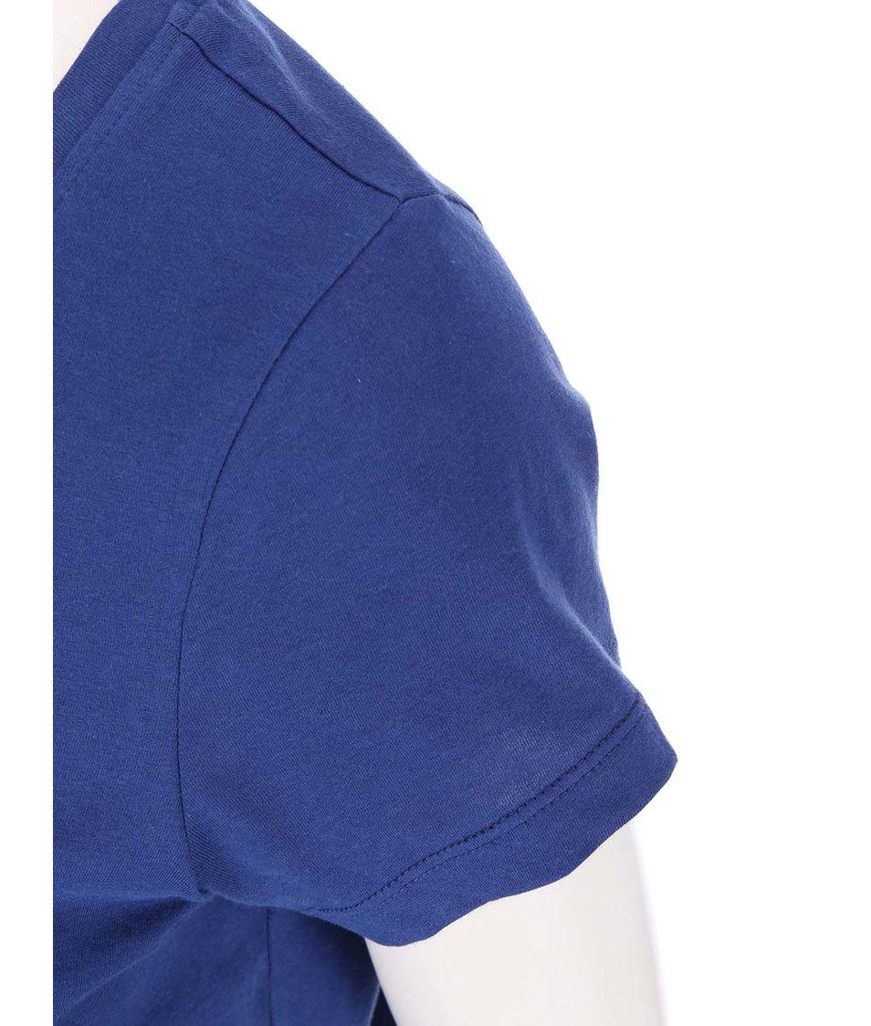 Modré tričko s potiskem Vero Moda Julie