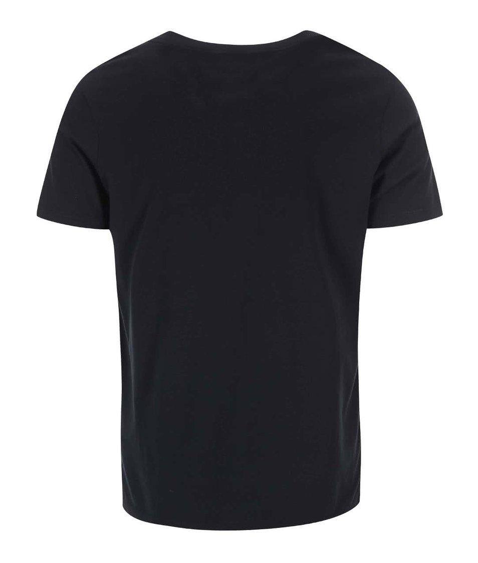 Černé triko s potiskem Jack & Jones Moon