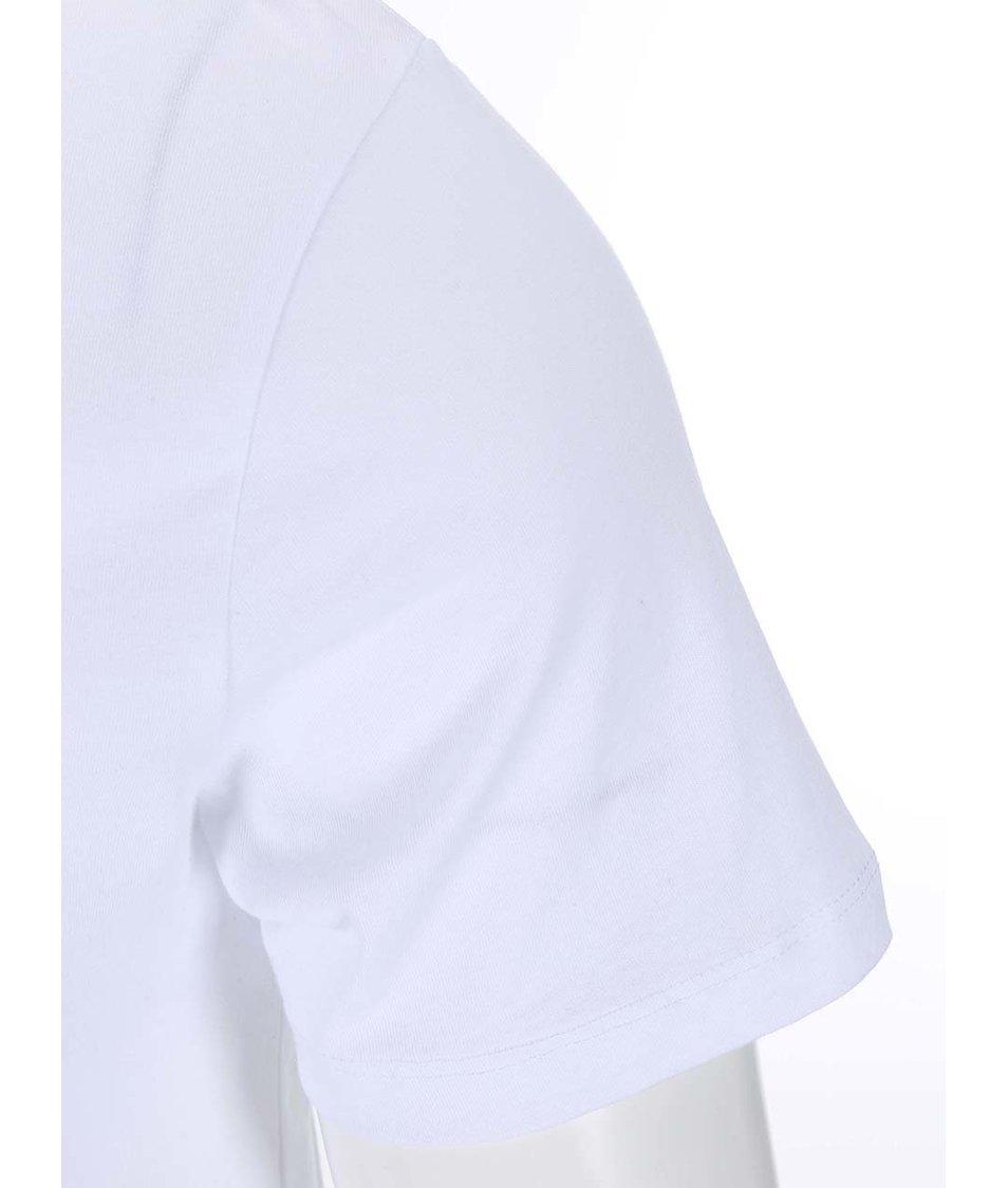 Bílé triko s potiskem Jack & Jones Moon