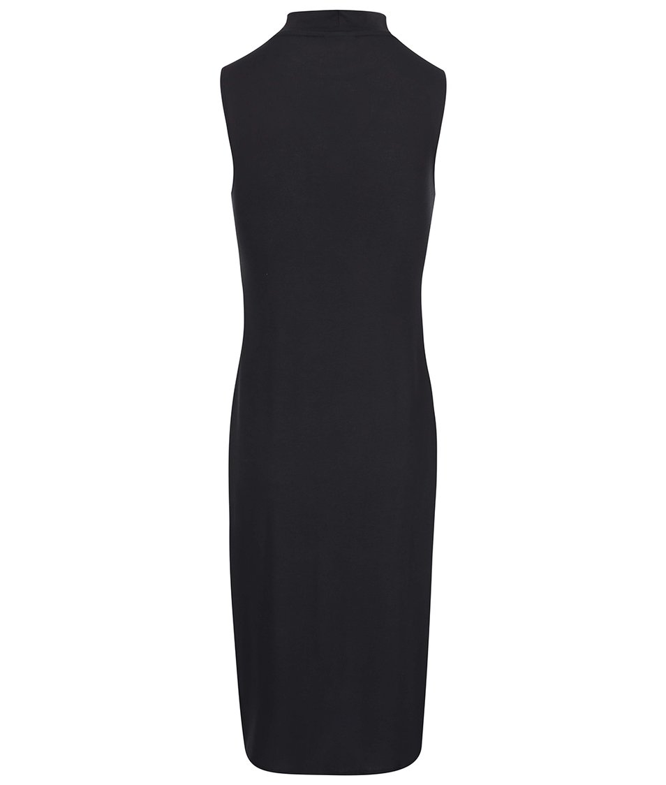 Černé dlouhé šaty s vysokým rozparkem Vero Moda Nadra