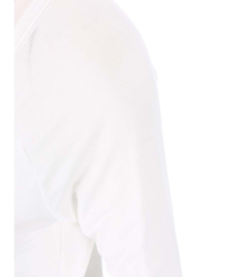 Bílé tričko s 3/4 rukávy a knoflíčky Vero Moda Hope