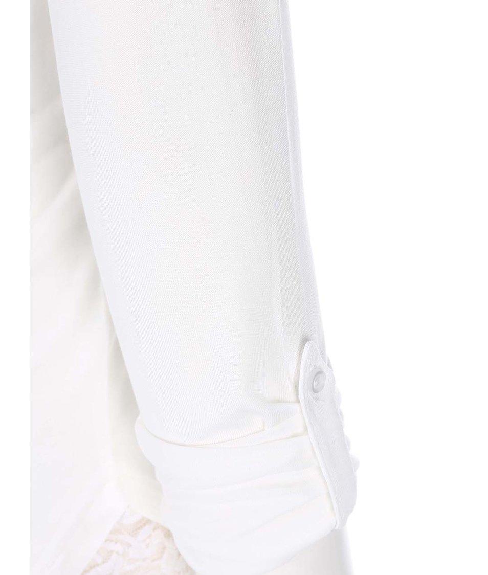 Bílé bavlněné tričko s 3/4 rukávy Vero Moda Hope