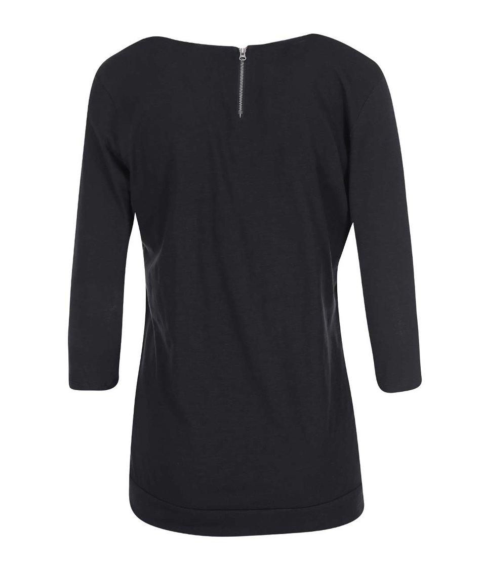 Černé tričko s 3/4 rukávy Vero Moda Hope