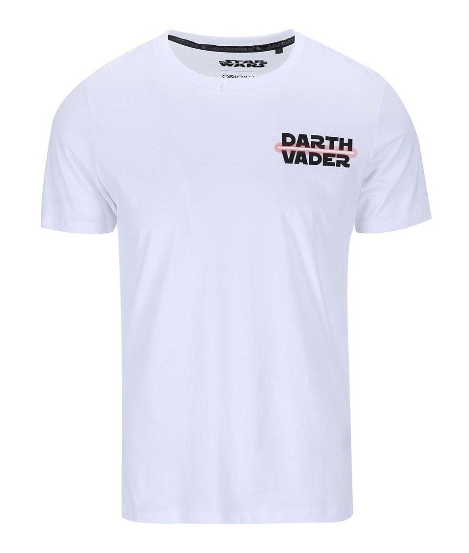 Bílé triko s potiskem Jack & Jones Vader