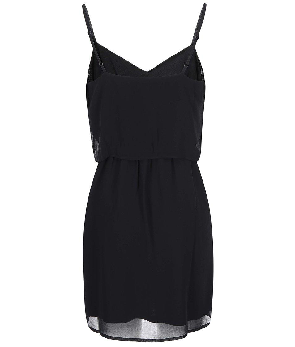 Černé šaty s korálky Vero Moda Sophie