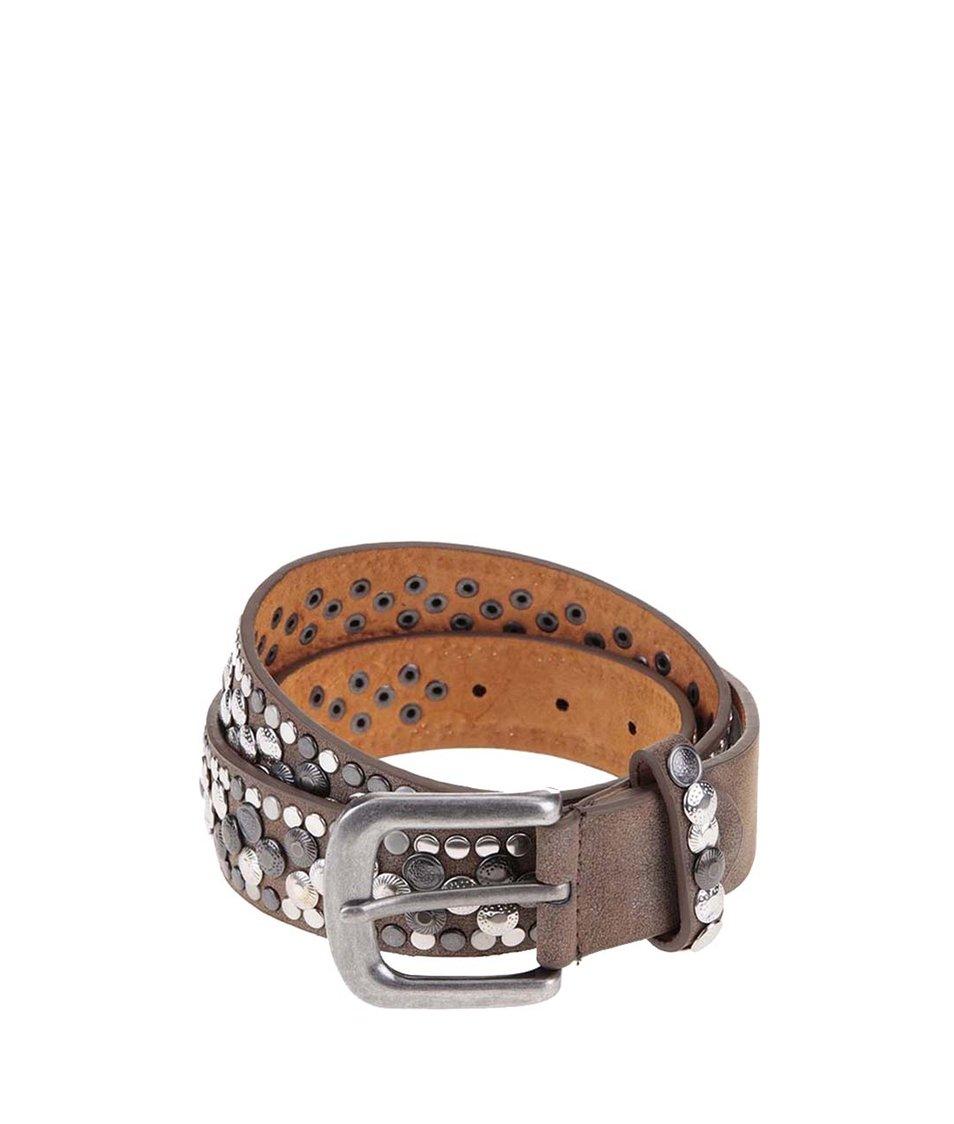 Hnědý kožený pásek s cvočky Haily´s Millie