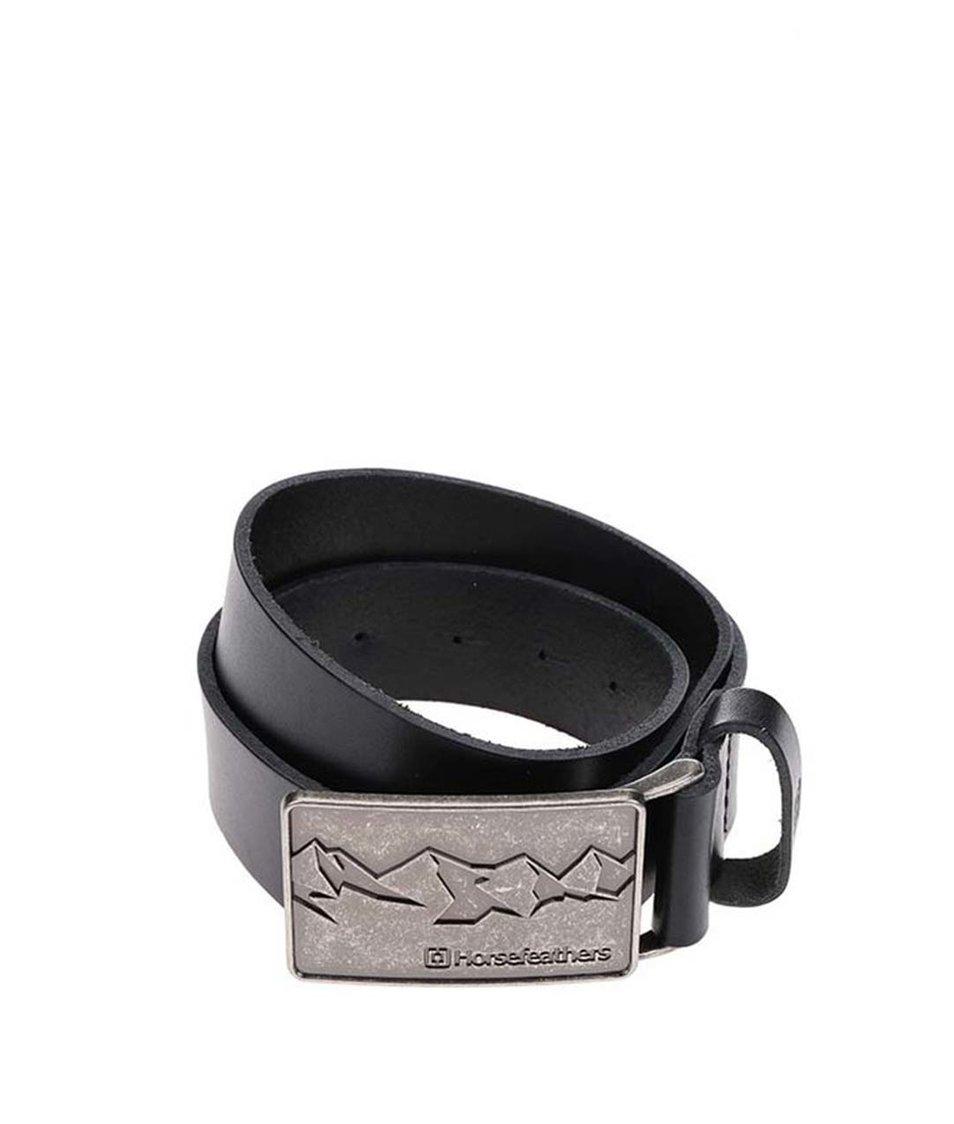 Černý dámský kožený pásek Horsefeathers Winie