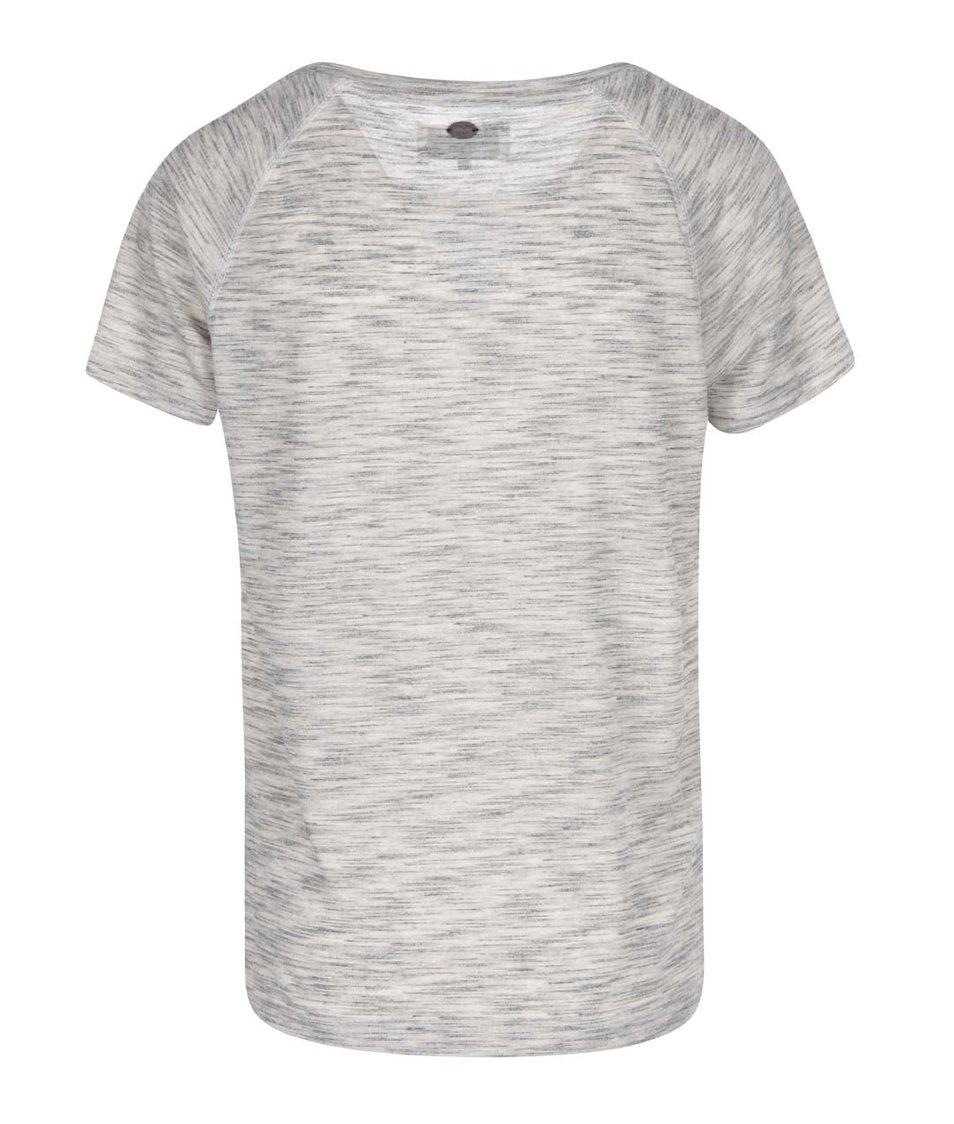 Bílo-šedé tričko s modrým potiskem ONLY Sonya