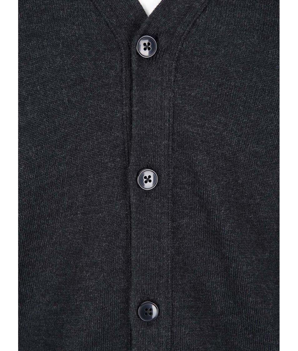 Tmavě šedý cardigan z Merino vlny J.Lindeberg Lymac