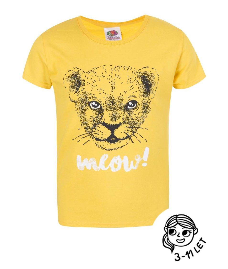 Žluté holčičí tričko ZOOT Kids Lvíček