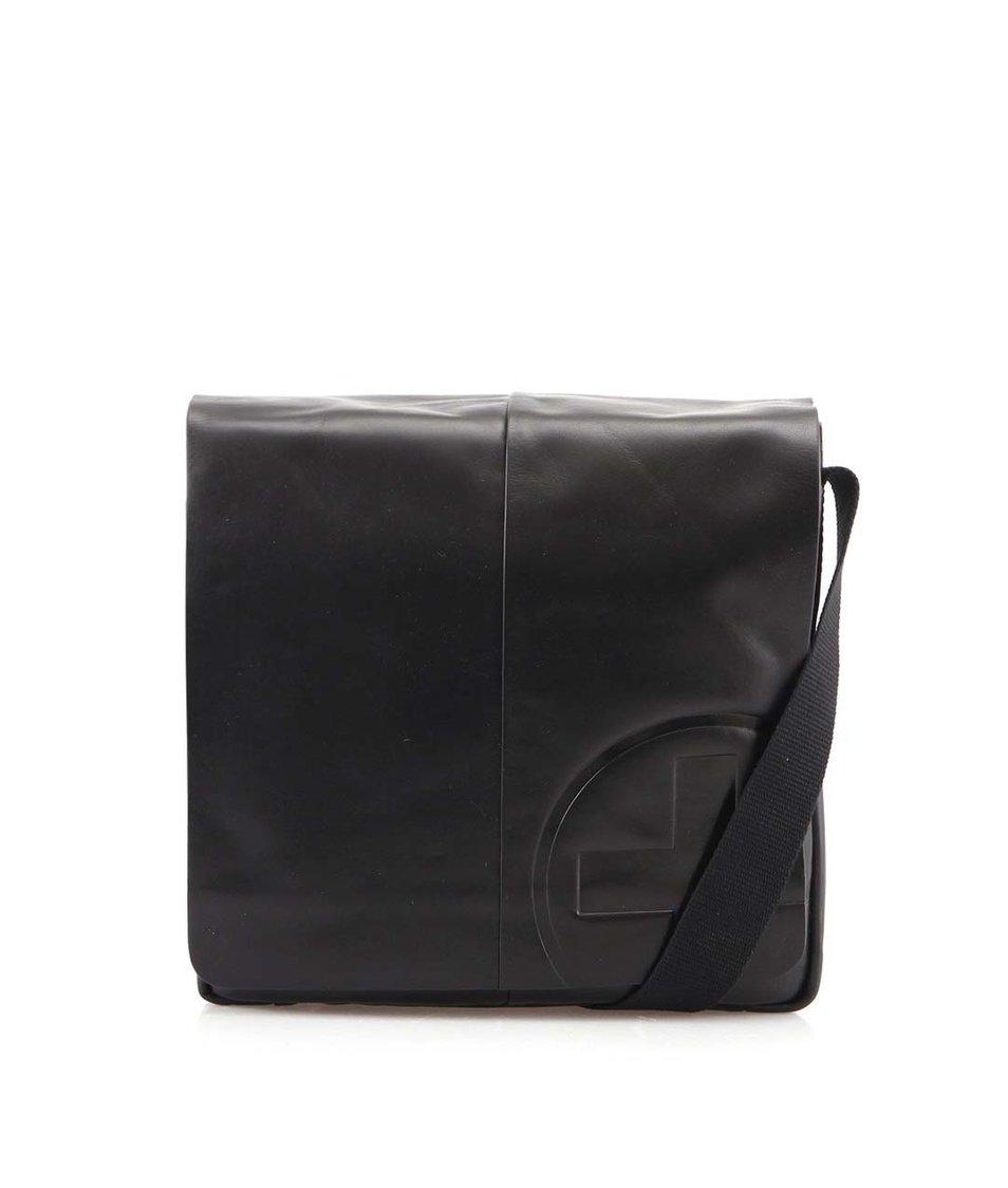 Černá kožená pánská taška messenger Strellson Jones MV