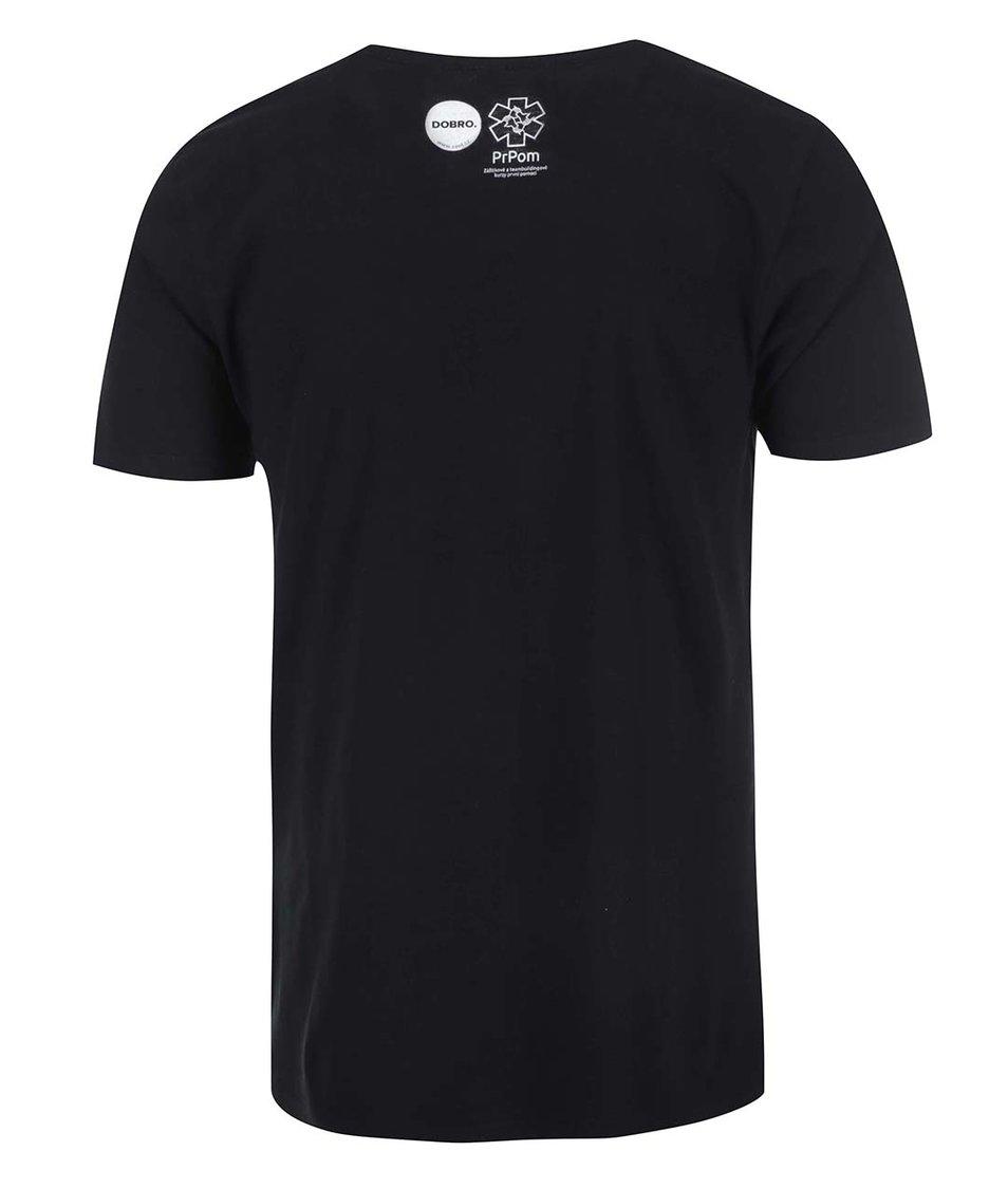 """""""Dobré"""" černé pánské triko pro PrPom"""