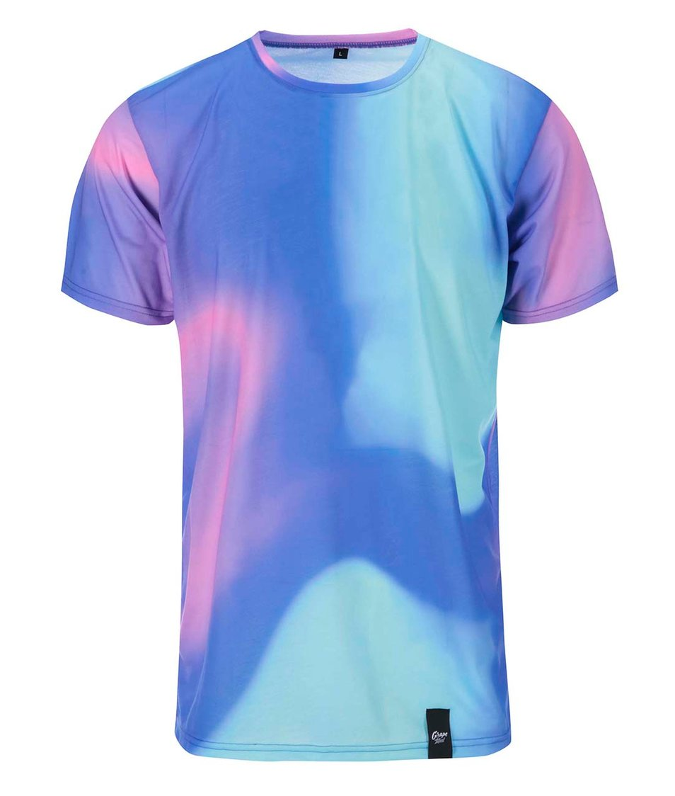 Fialovo-modré pánské celopotiskové triko Grape Duha