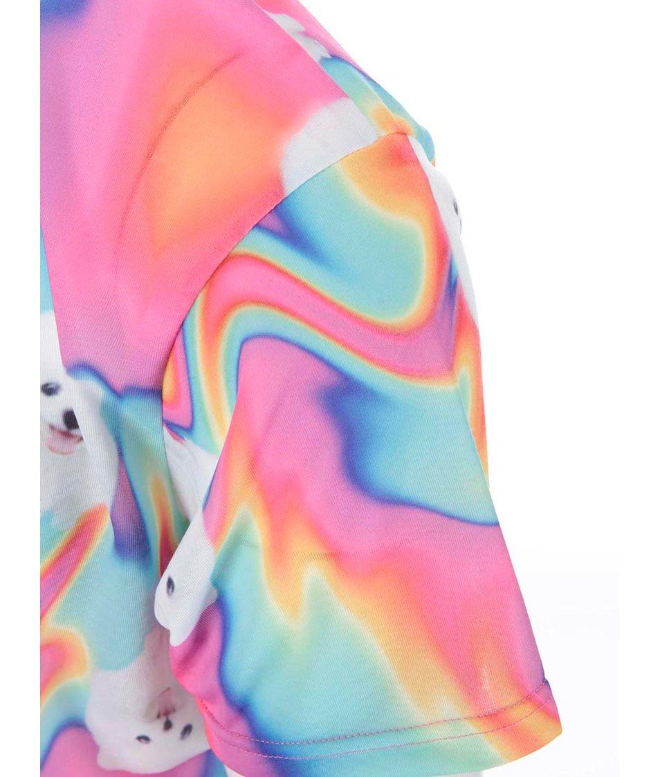Barevné pánské celopotiskové triko Grape Pes v duhe