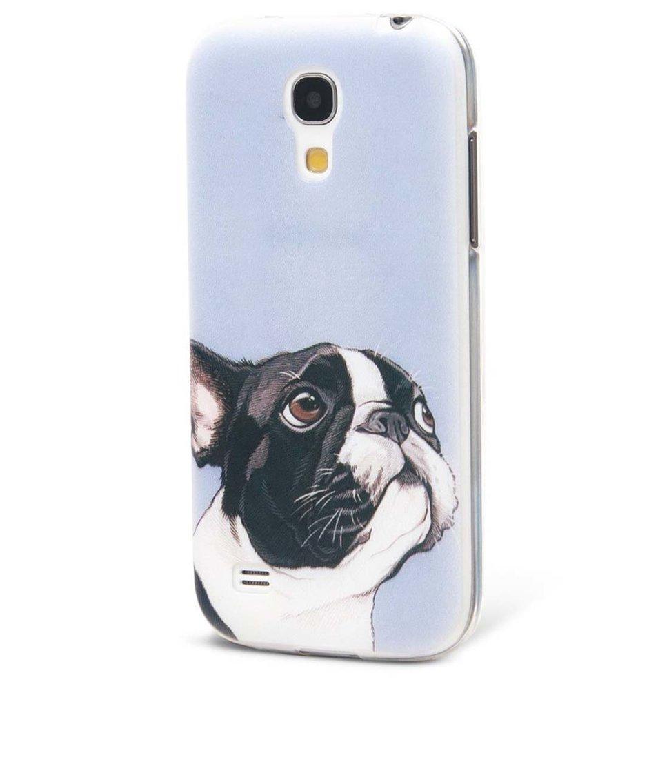 Světle modrý ochranný kryt na Samsung Galaxy S4 mini Epico Doggie