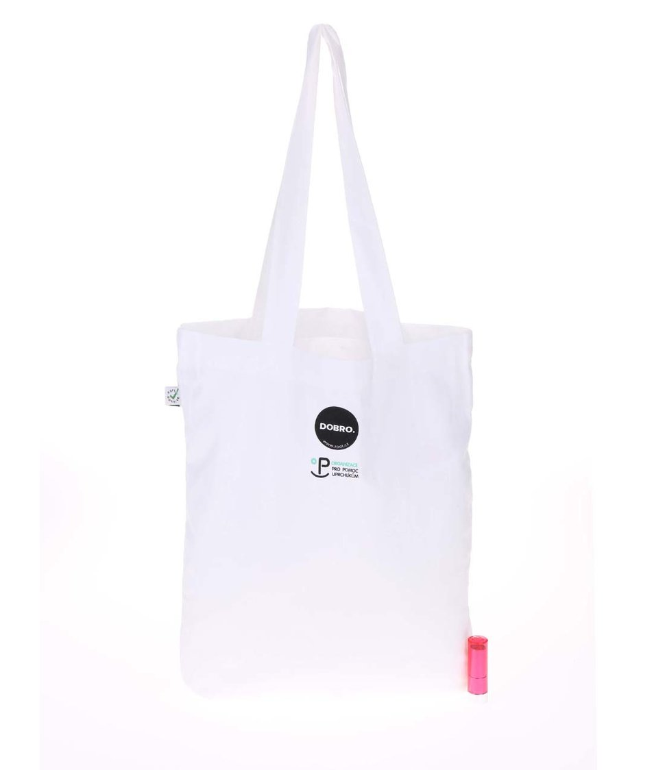 """Dobrá"" bílá plátěná taška pro OPU a UNHCR"
