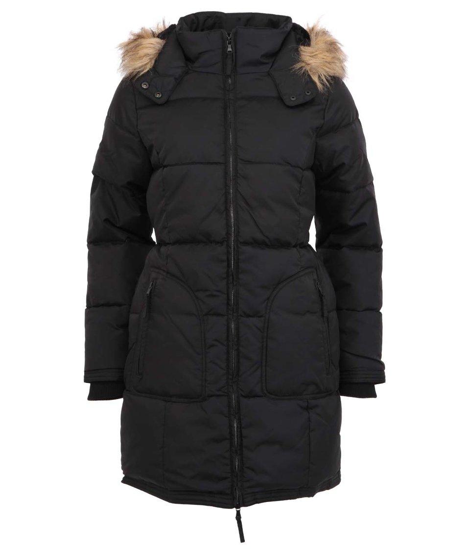Černý kabát s kapucí Desires Nigal