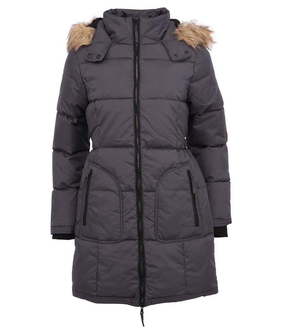 Tmavě šedý kabát s kapucí Desires Nigal