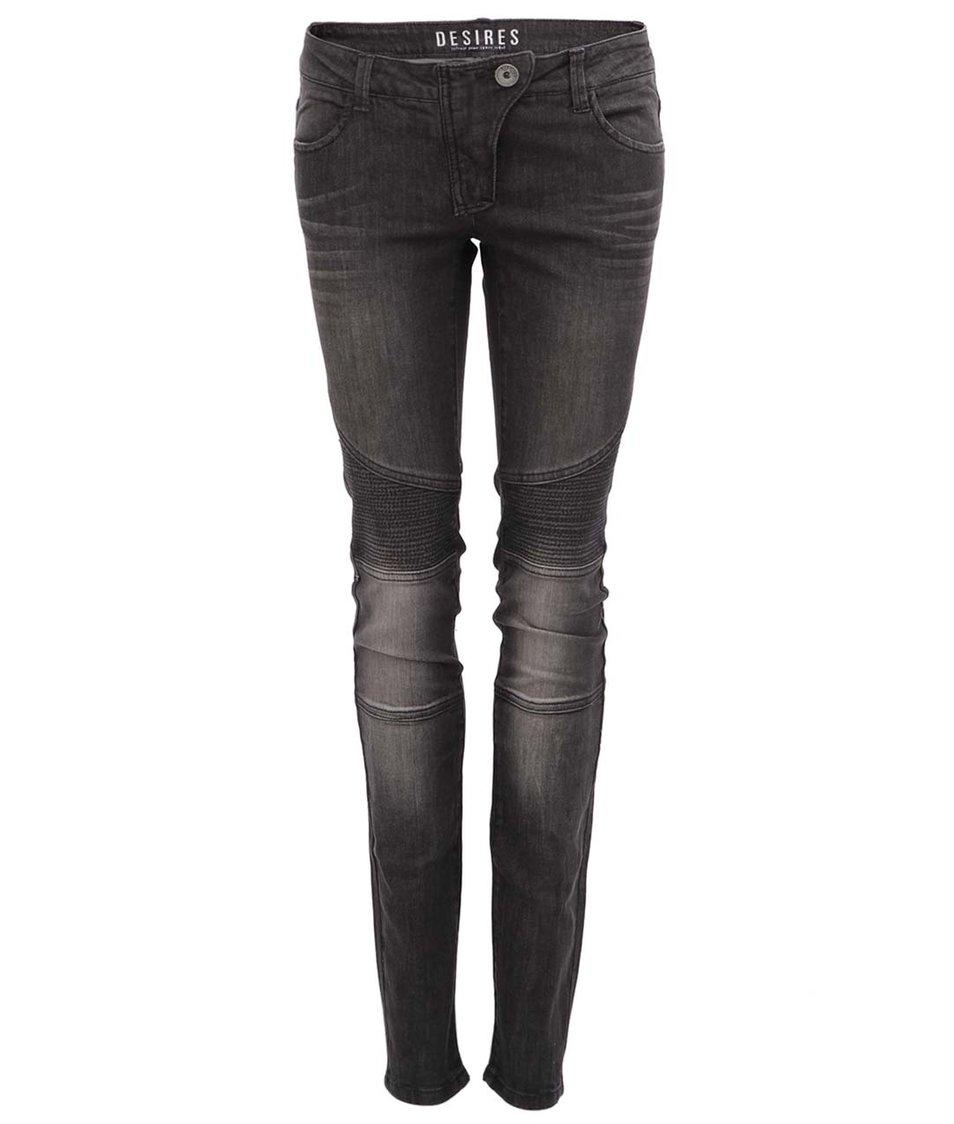 Tmavě šedé džíny s prošitím Desires Claudia