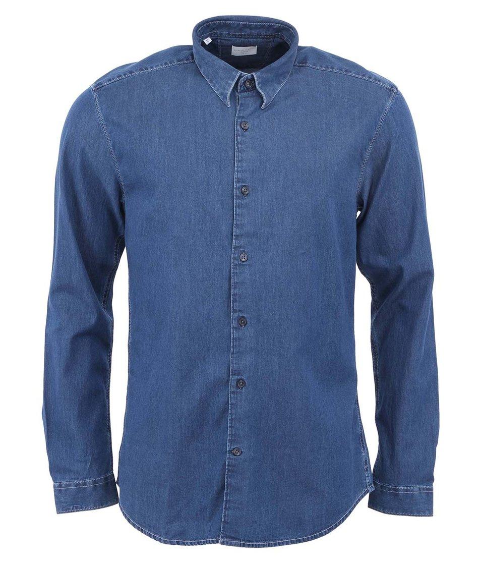Modrá džínová košile Selected Fade Slim Fit