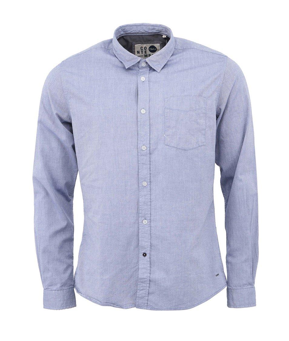 Tmavší modrá košile !Solid Keysar