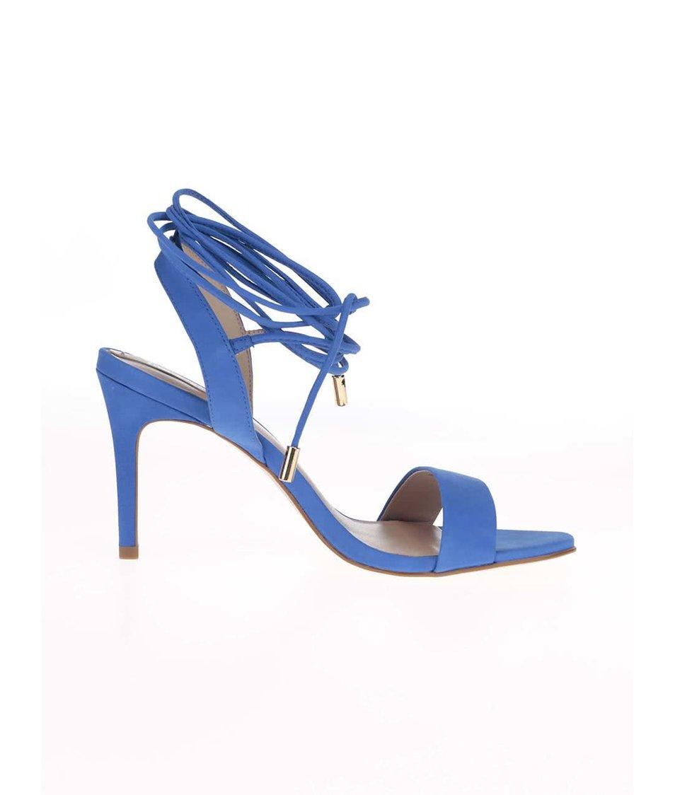 81acb0524a Modré kožené šněrovací sandálky ALDO Marilyn Modré kožené šněrovací  sandálky ALDO Marilyn ...