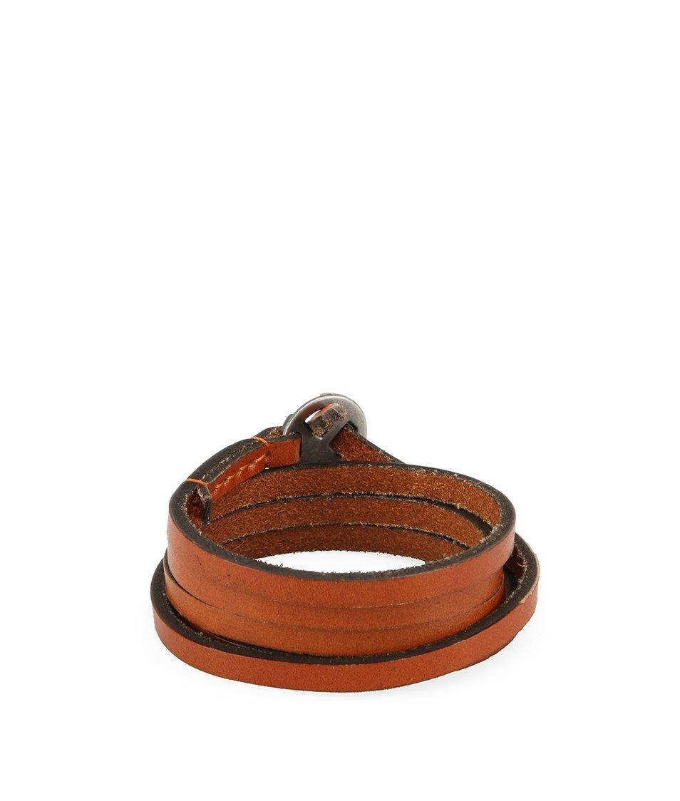 Hnědý pánský kožený náramek Lucleon Lucca