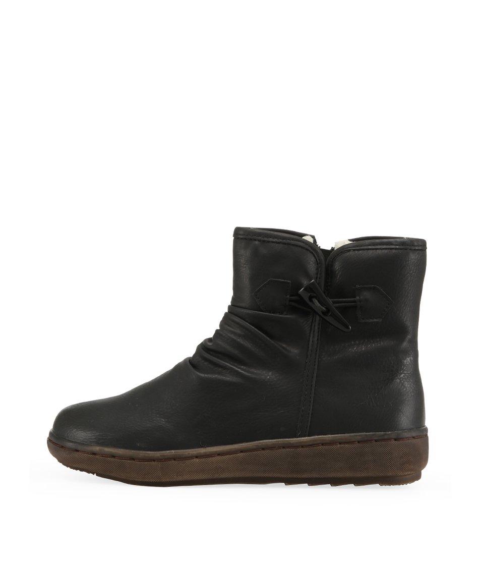 Nízké černé zimní boty Bétsy
