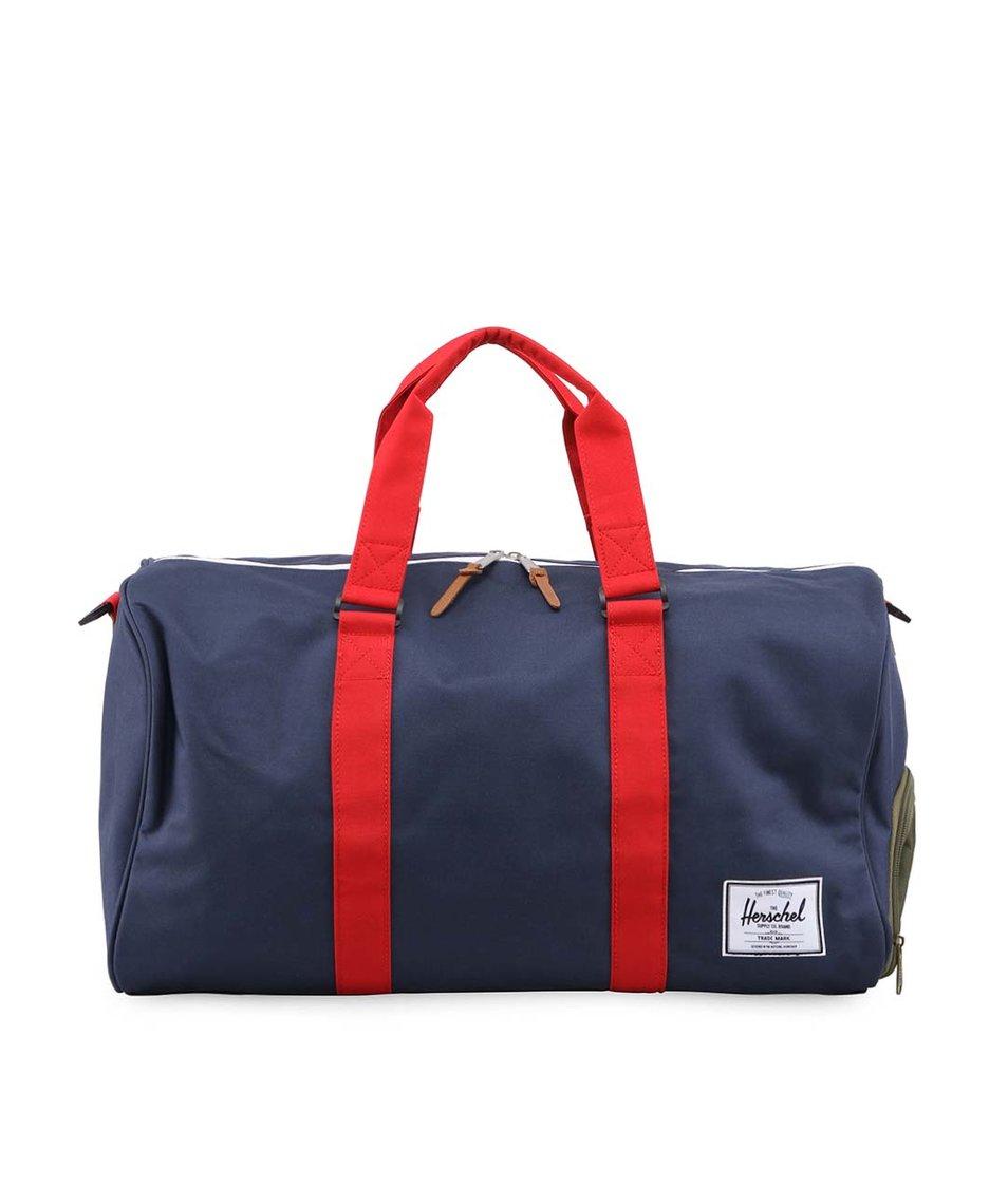 Tmavě modrá taška s maskáčovou kapsou Herschel Novel