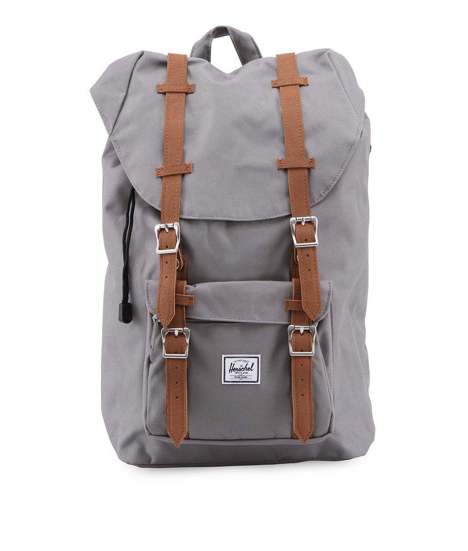 Menší šedý batoh s přední kapsou Herschel Little America