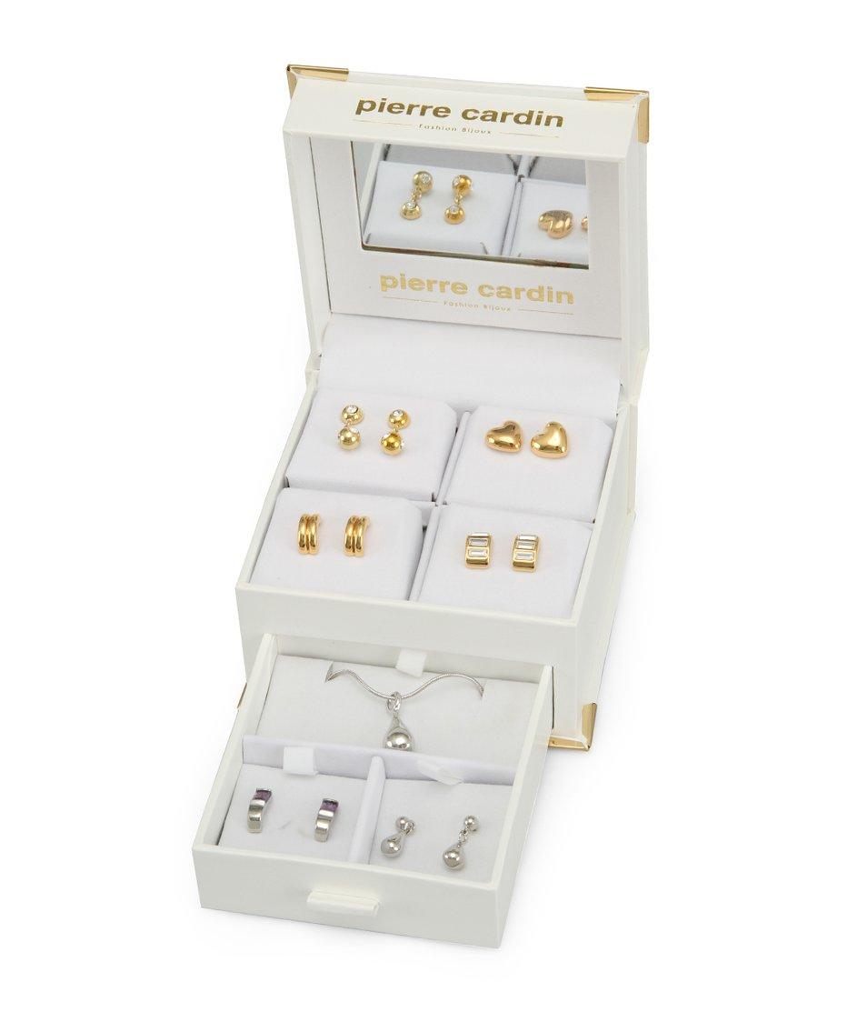Velký set s náhrdelníkem a náušnicemi Pierre Cardin
