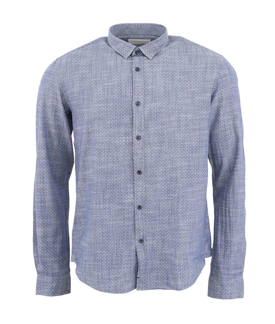 Šedomodrá puntíkovaná košile HYMN Sullivan