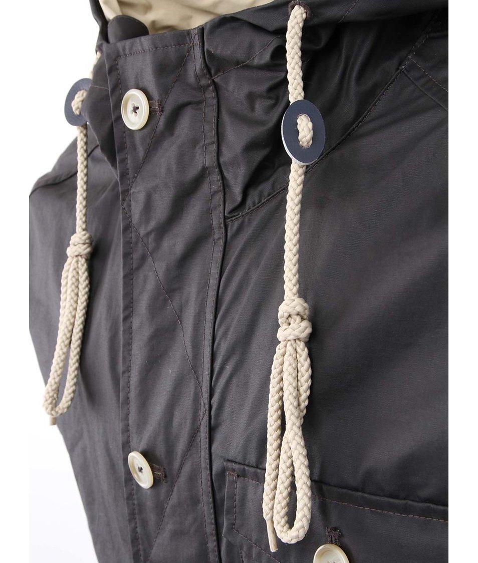 Černá bunda s kapucí HYMN Donald