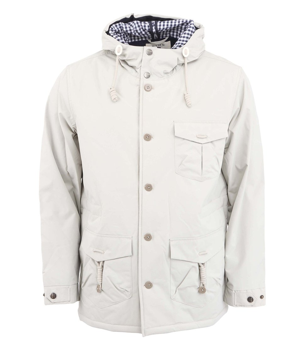 Světle šedá bunda s kapucí HYMN Alfred