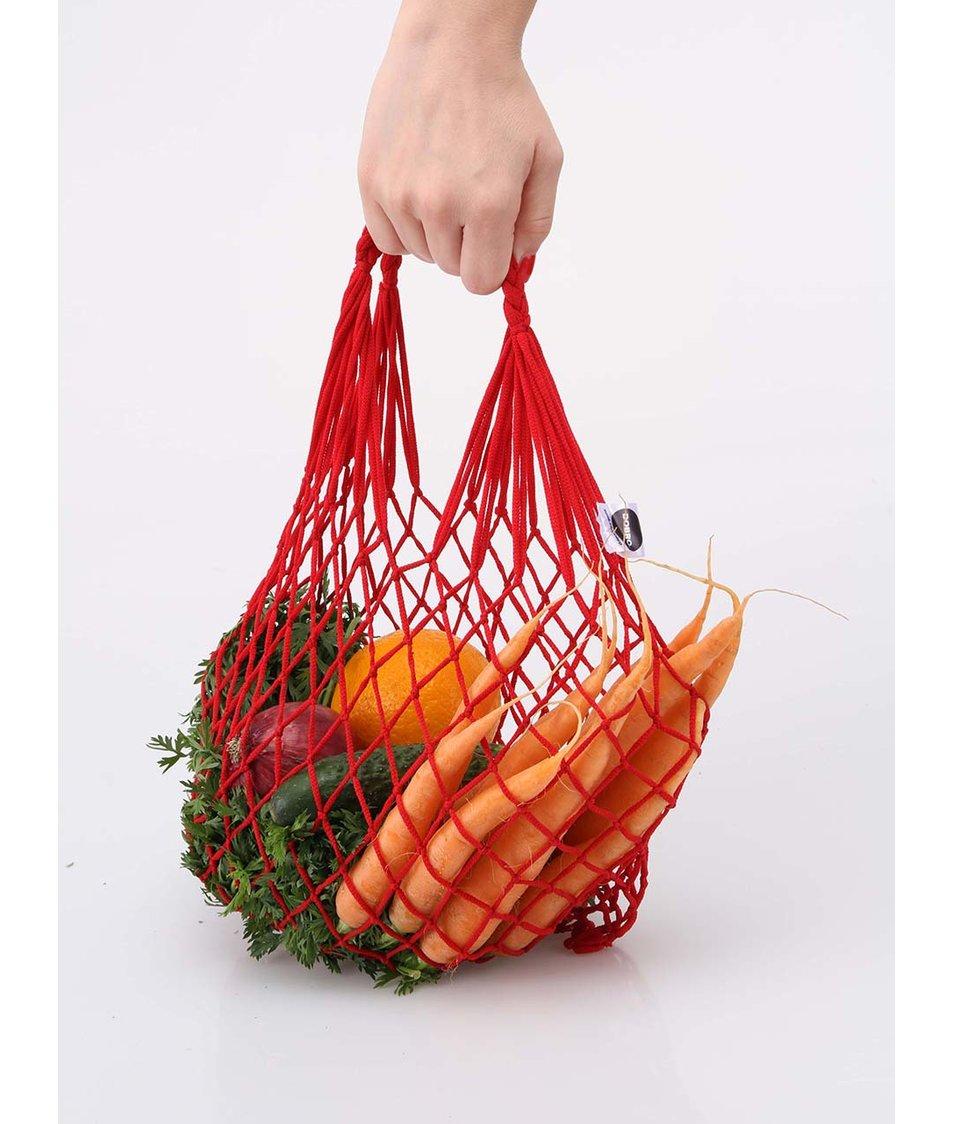 """""""Dobrá"""" červená síťovka Zachraň jídlo"""