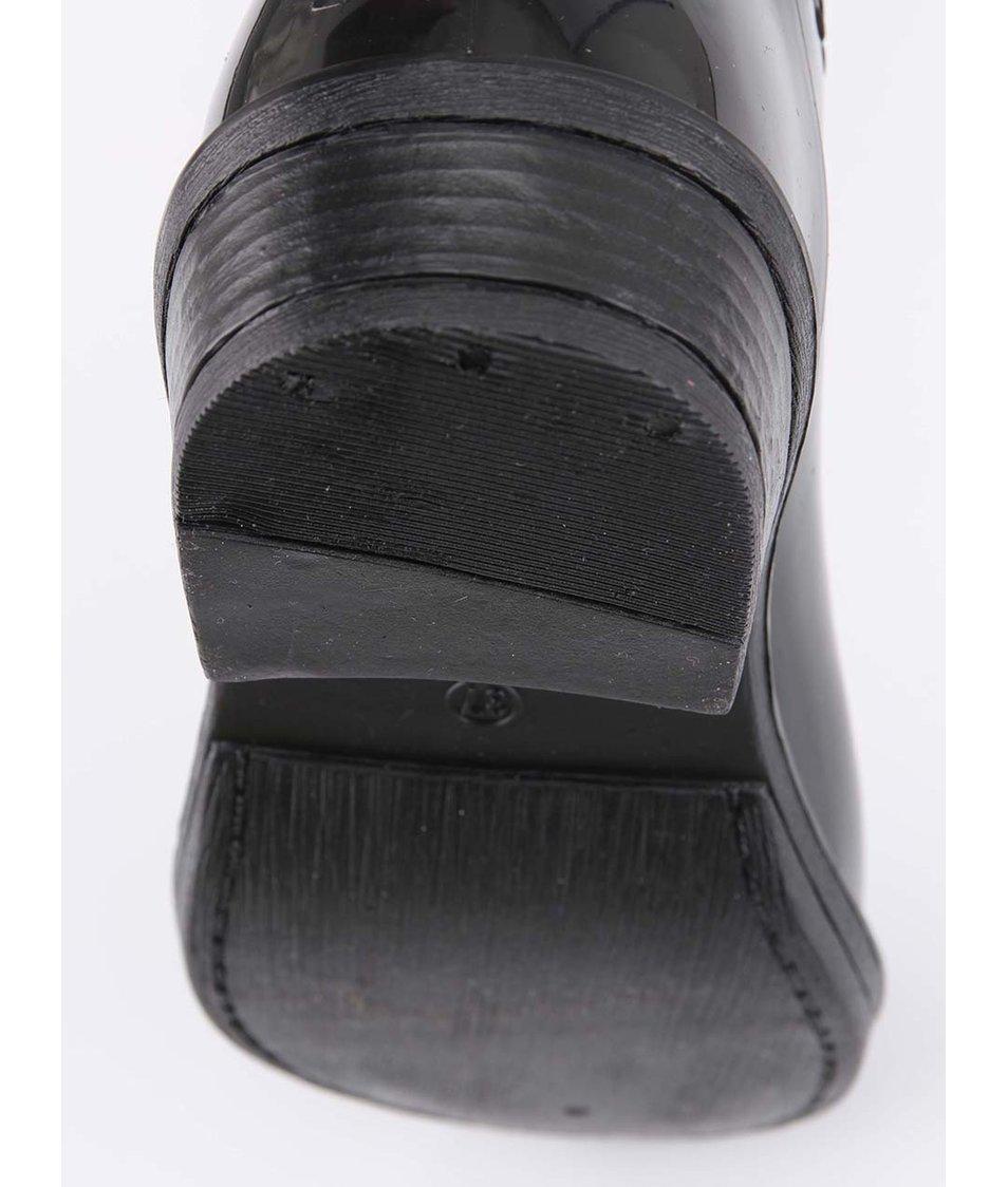 Černé holínkové kozačky s kožíškem Xti