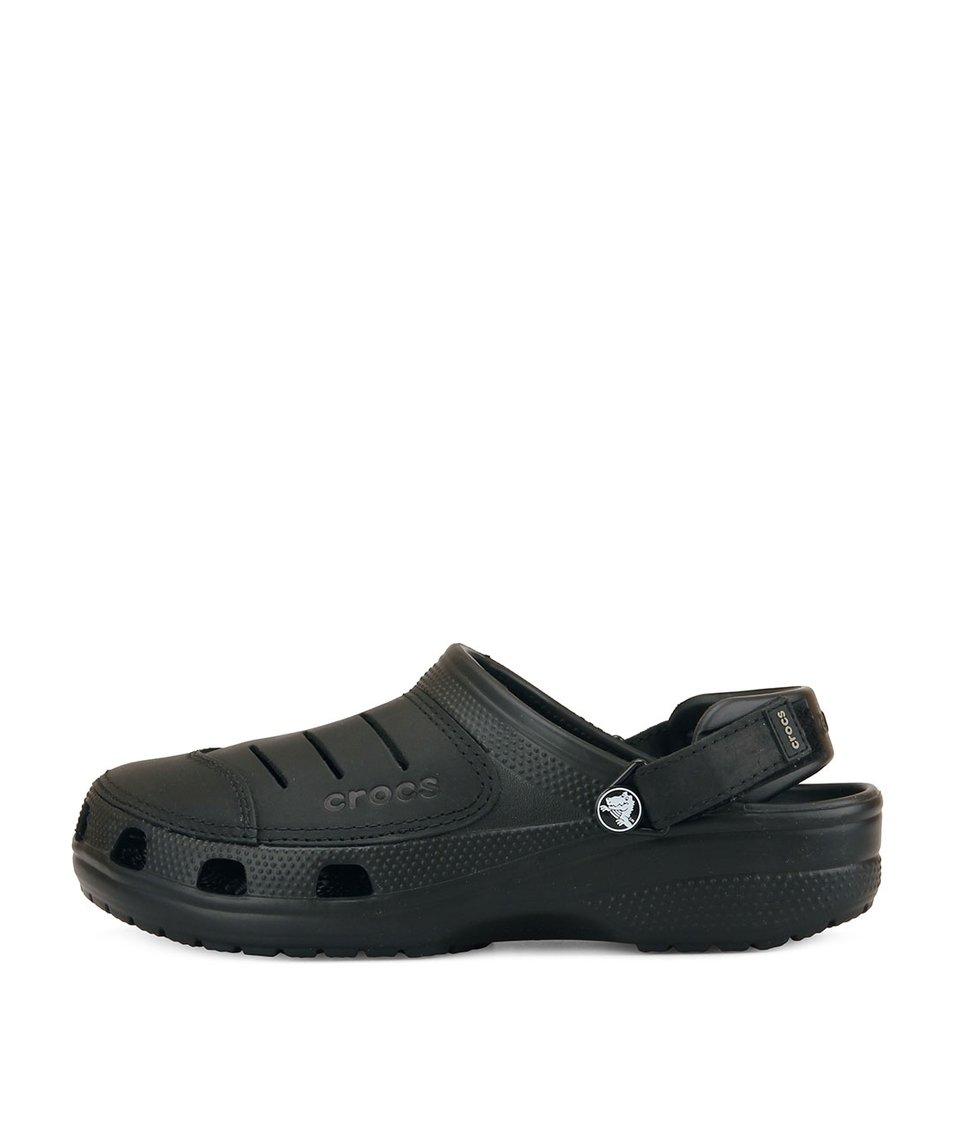 Černé pánské nazouváky Crocs Yukon
