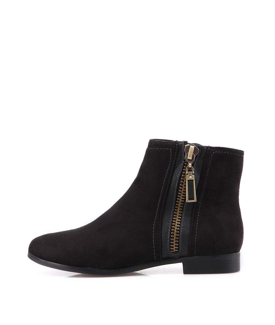 Černé dámské kotníčkové boty Victoria Delef