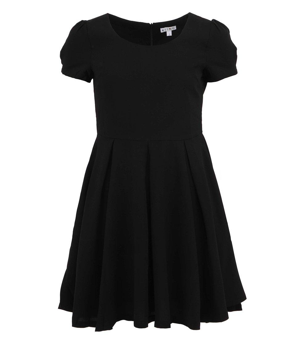 Černé minimalistické šaty s krátkým rukávem Kling Bakewell