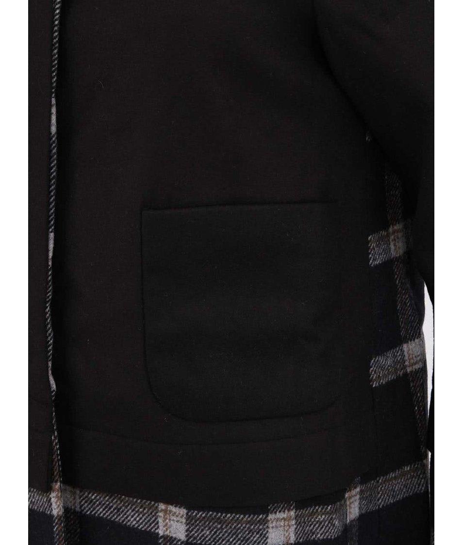 Černý kostkovaný kabát Kling Whitby