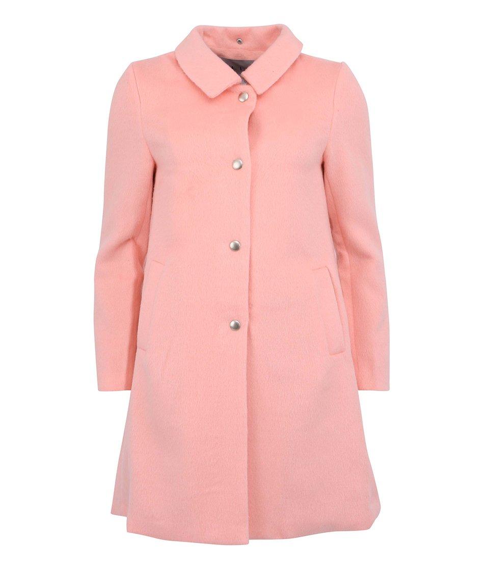 Pastelově růžový dámský elegantní kabát Kling Nadine