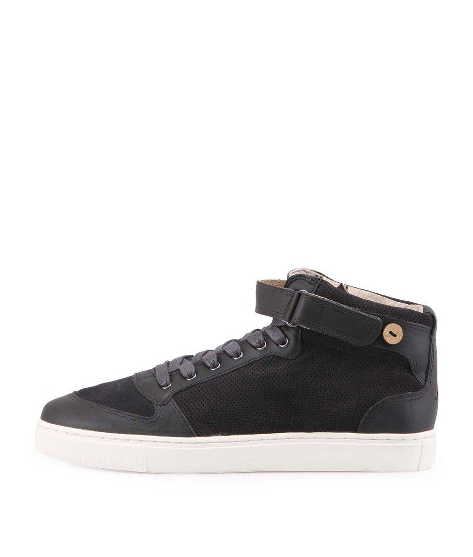 Šedé pánské kožené boty Faguo Dogwood