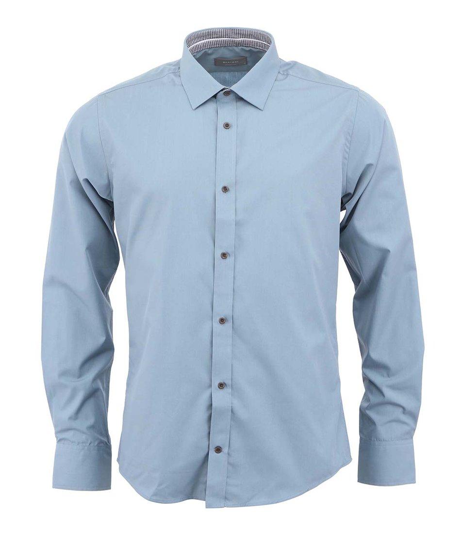 Šedomodrá košile Bertoni Slim Fit
